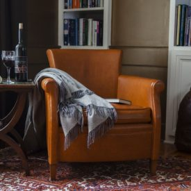 Moore and Giles leather armchair.