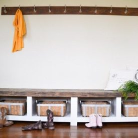 Mudroom bench with storage