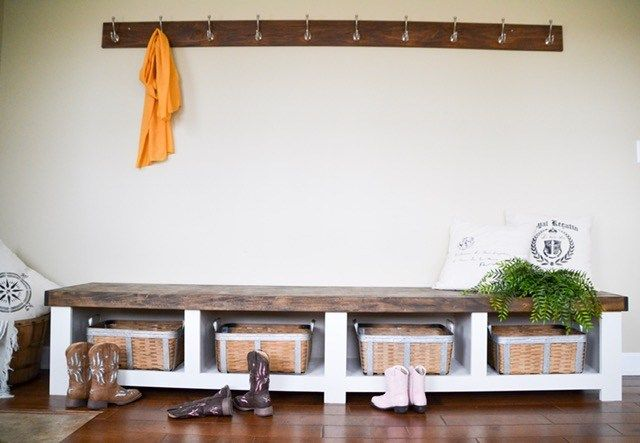 Diy Storage Bench Ideas That Perfectly Complete The Entryway