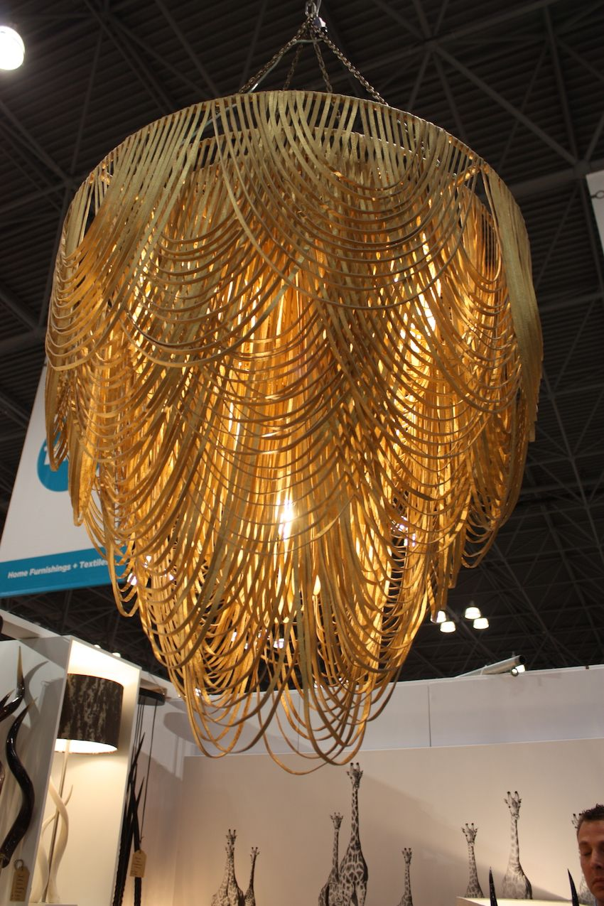 This magnificent leather chandelier is from Ngala Trading.