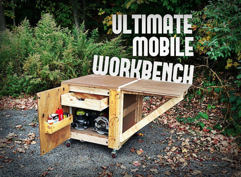 Mobile workbench with hidden features