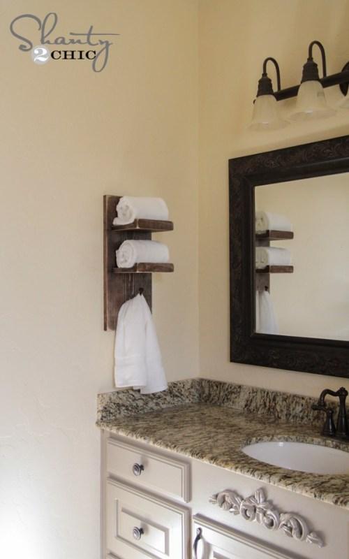 Diy Bathroom Shelf With Towel Bar Off 50, Bathroom Shelves With Towel Bar Ideas