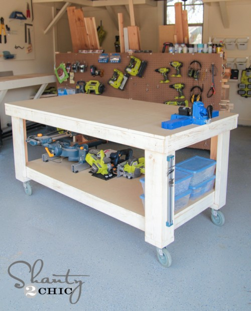 A solid frame for a sturdy work surface