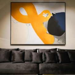 Abstract colorful wall art