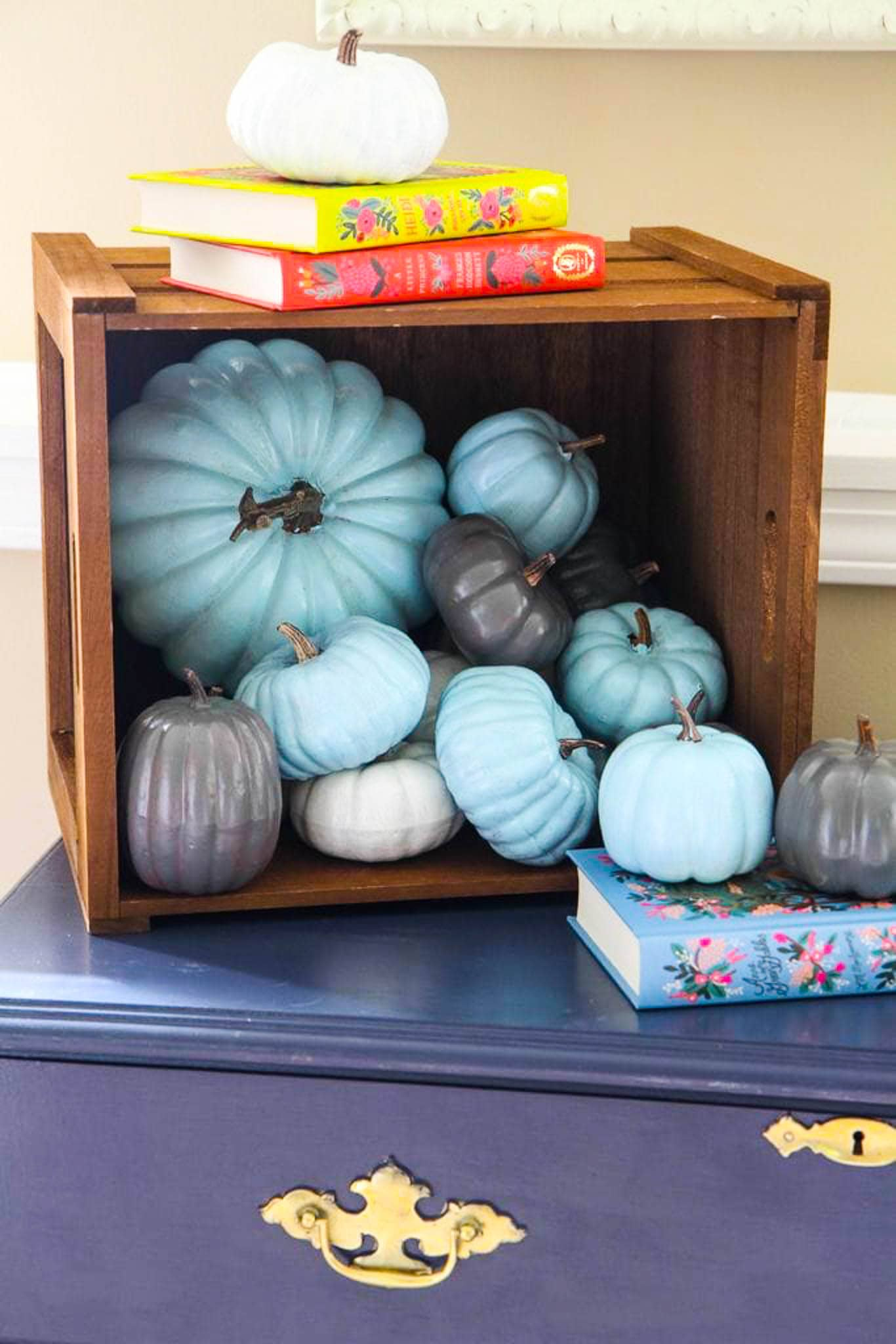 Simple Single-Color Painted Pumpkins