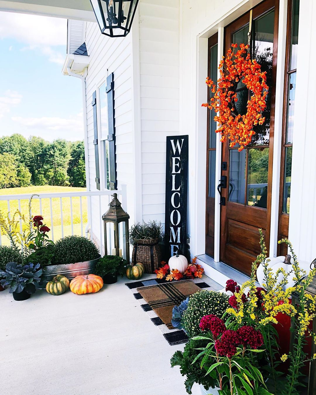 Use Your Home's Colors to Enhance Your Fall Porch Decor