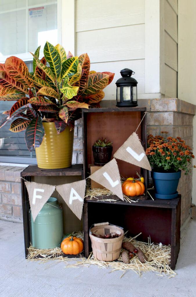 Beautiful Fall Porch Decor Display