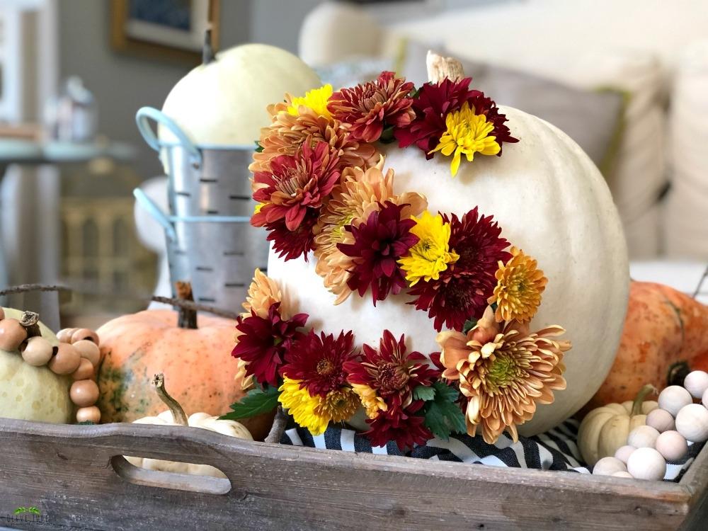 Blooming Monogrammed Pumpkin