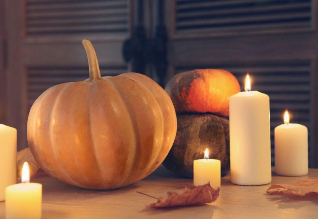 Candles and Pumpkins and Mood Light, Fall decor