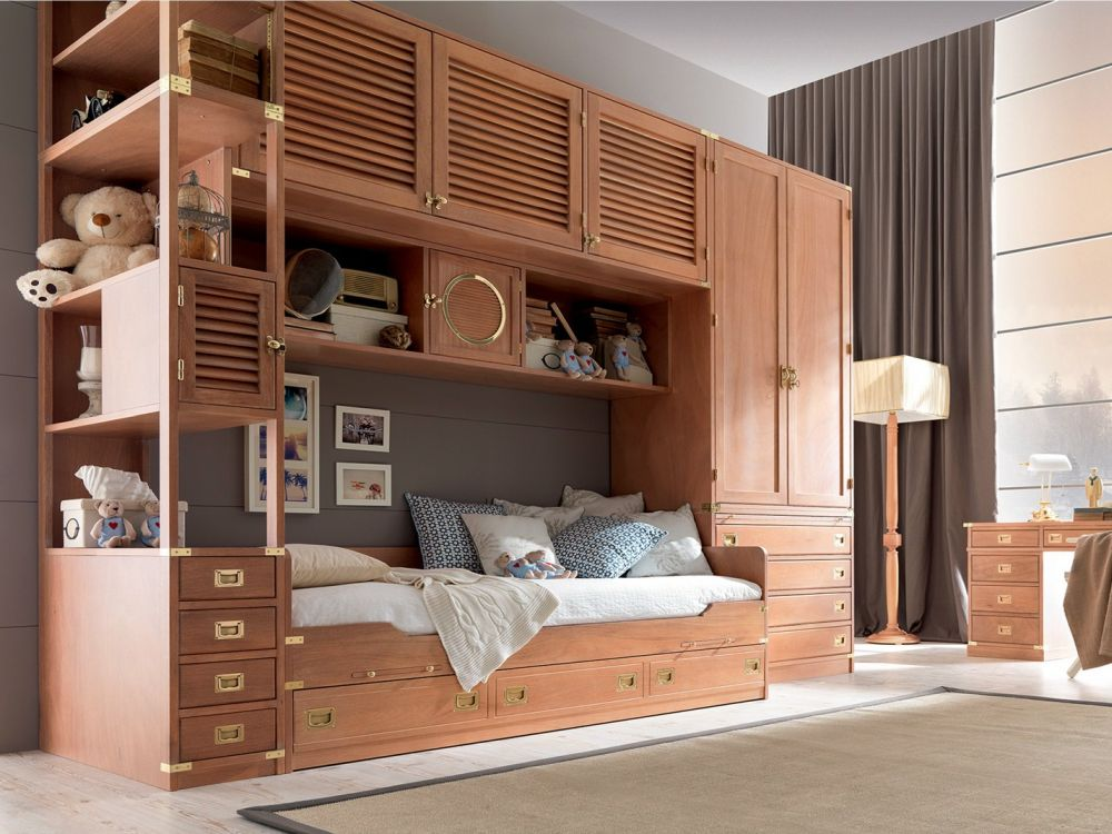 Cool furniture and design ideas for teenage rooms for Camerette in legno massello