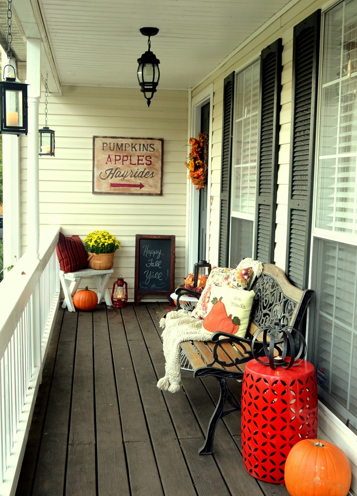 Comfy Front Porch Fall Sitting