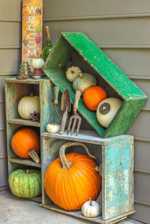 Pumpkin Crate Display