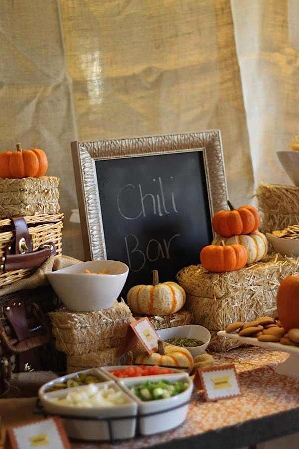 Fall Chili Bar Decor