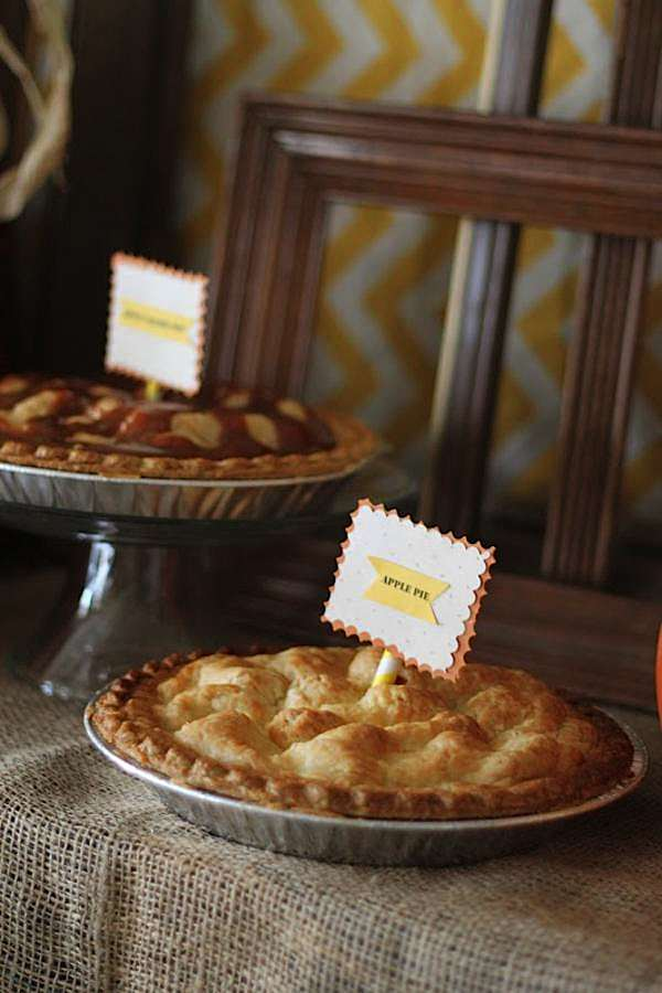 Fall Party Food Labels