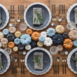 Fall party table decor
