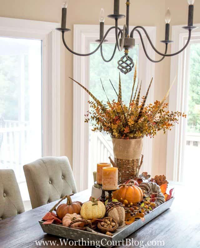 Small Pumpkin Table Tray
