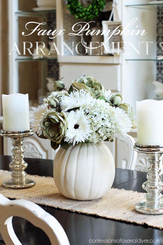 White on White Pumpkin Bouquet