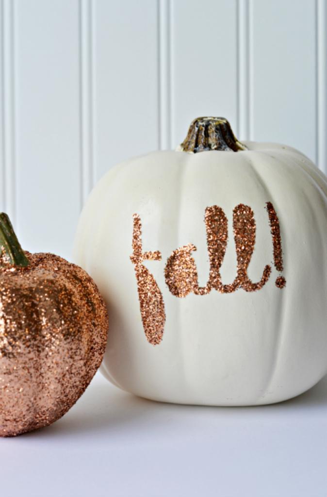 Glitter Pumpkin Signs