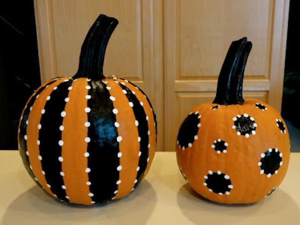 17. Halloween Themed Pumpkin Painting