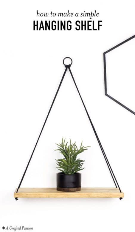 Minimalist hanging shelf for any room