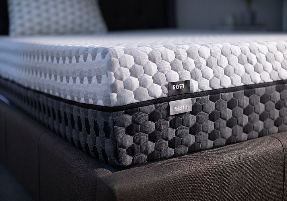 What's super interesting about the Layla mattress is that it has two sides: a firmer mattress side and a softer mattress side.