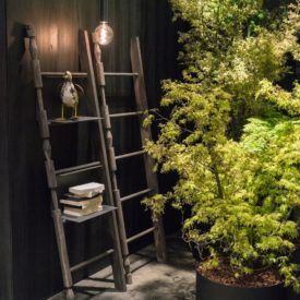 Leaning ladders for decor