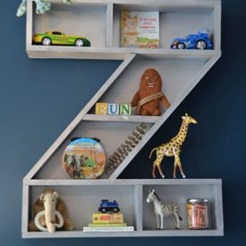 Letter wall hanging toys storage