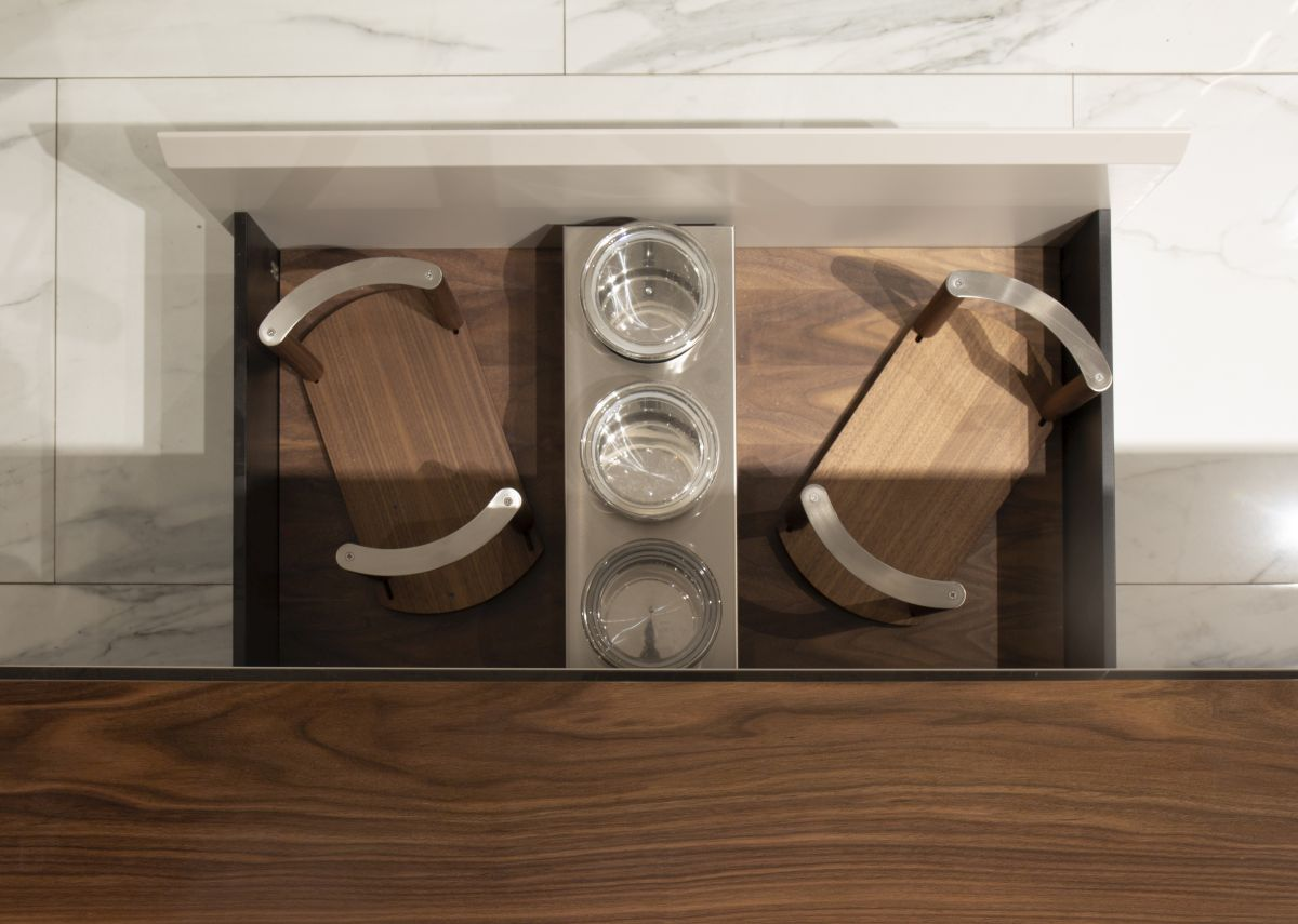 The large drawers offer lots of storage, with interior just as stylish and glamorous as the exterior