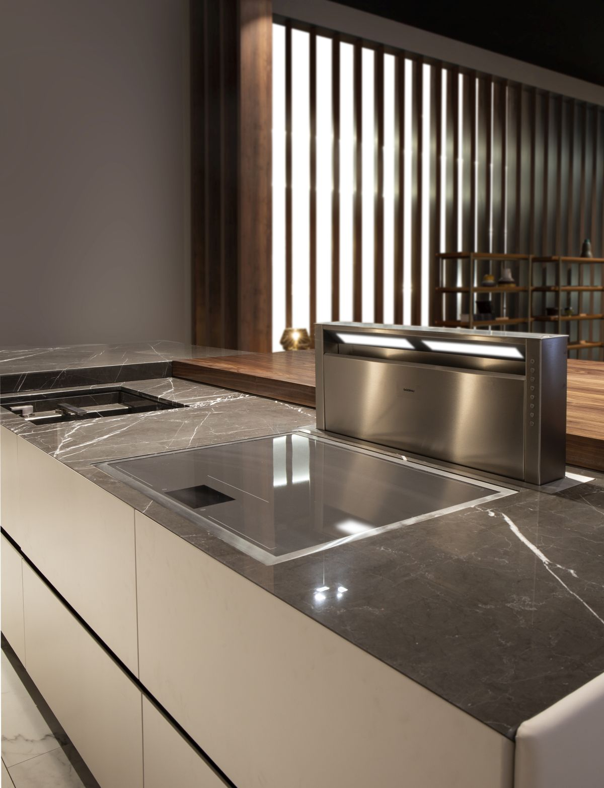 This luxury kitchen also includes a variety of other exquisite details and features designed to enrich the user experience