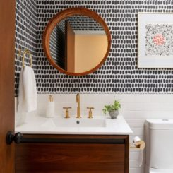 Modern wallpaper for powder room