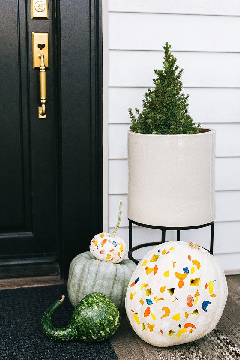 Terrazzo Pumpkin Painting Effect