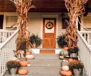 Front Porch Decor Concept To Welcome Fall With