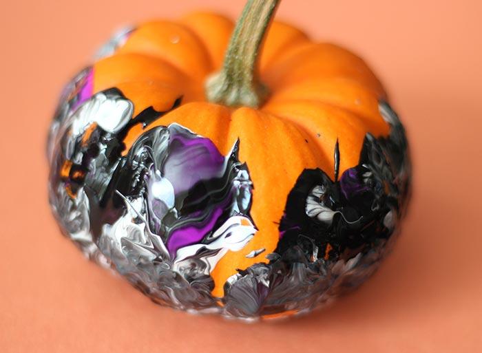 Painting Marble Pumpkin