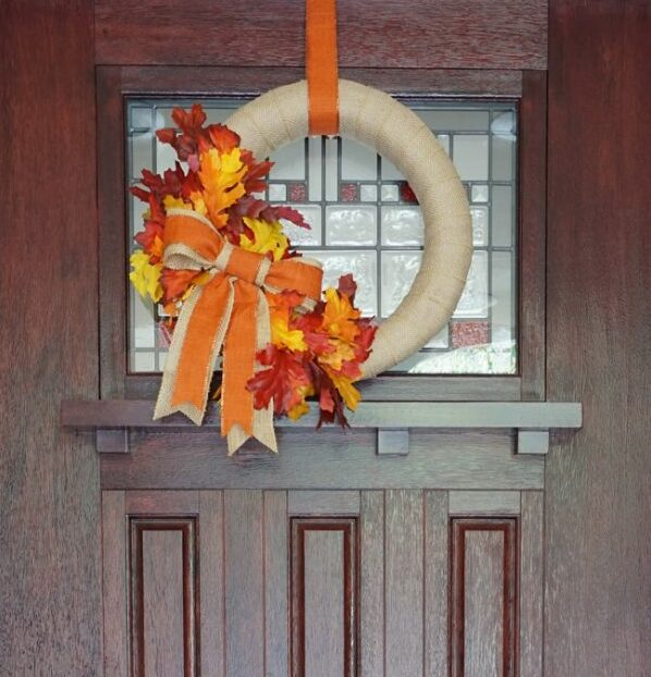 Put a Burlap Wreath on the Front Door