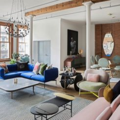 SoHo Loft NYC - colorful seats