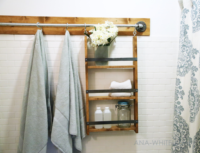 A hanging organizer for the bathroom or the kitchen