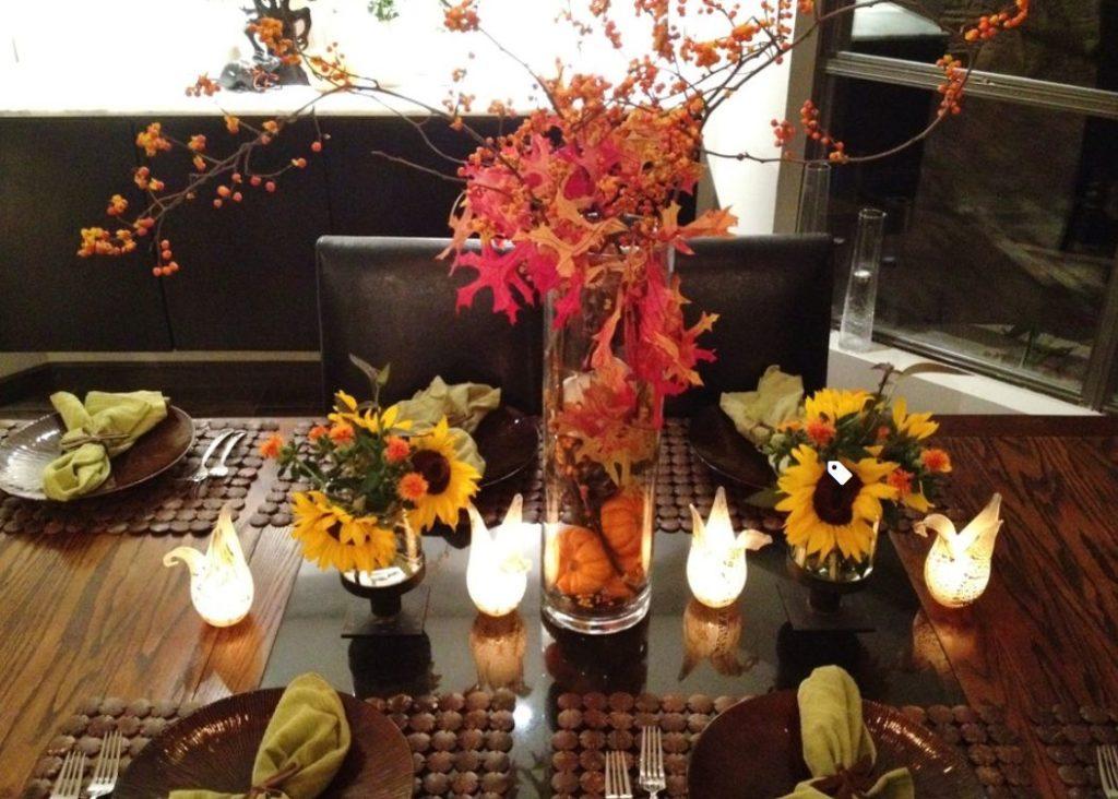 Fall Party Decor Table Centerpieces