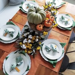 Tablescape for fall and halloween