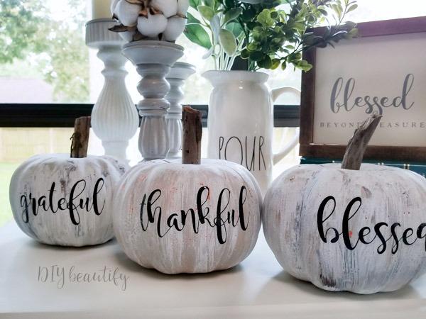 Thrifty Antiqued Pumpkins