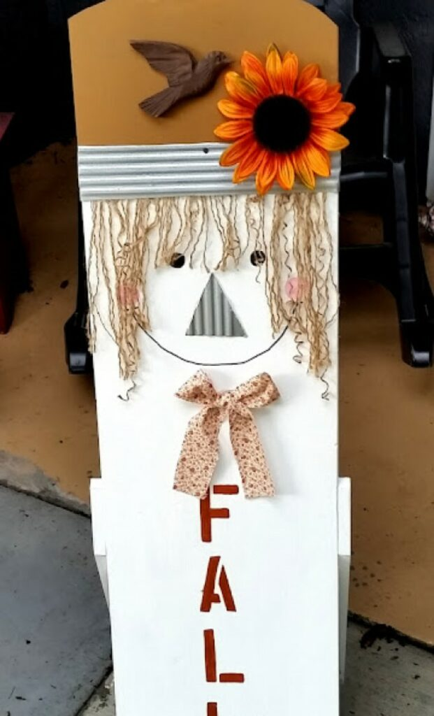 Upcycled Scarecrow Décor