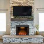 "Valuxhome 36"" Recessed Electric Fireplace"