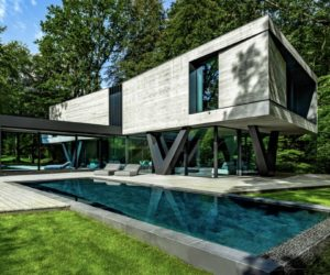Modern House Resembles An Abstract Sculpture In The Midst Of The Forest