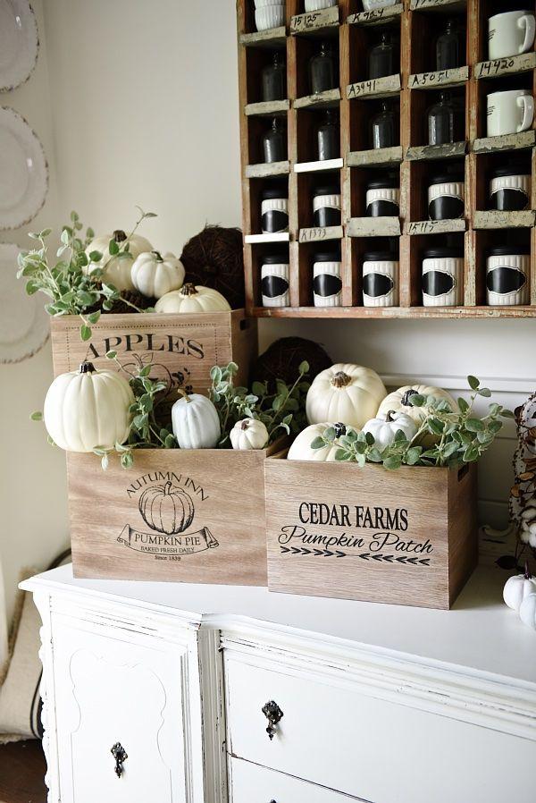 Rustic Fall Pumpkin Crates