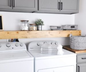 Stylish Ways To Take Full Advantage Of Your Laundry Shelves