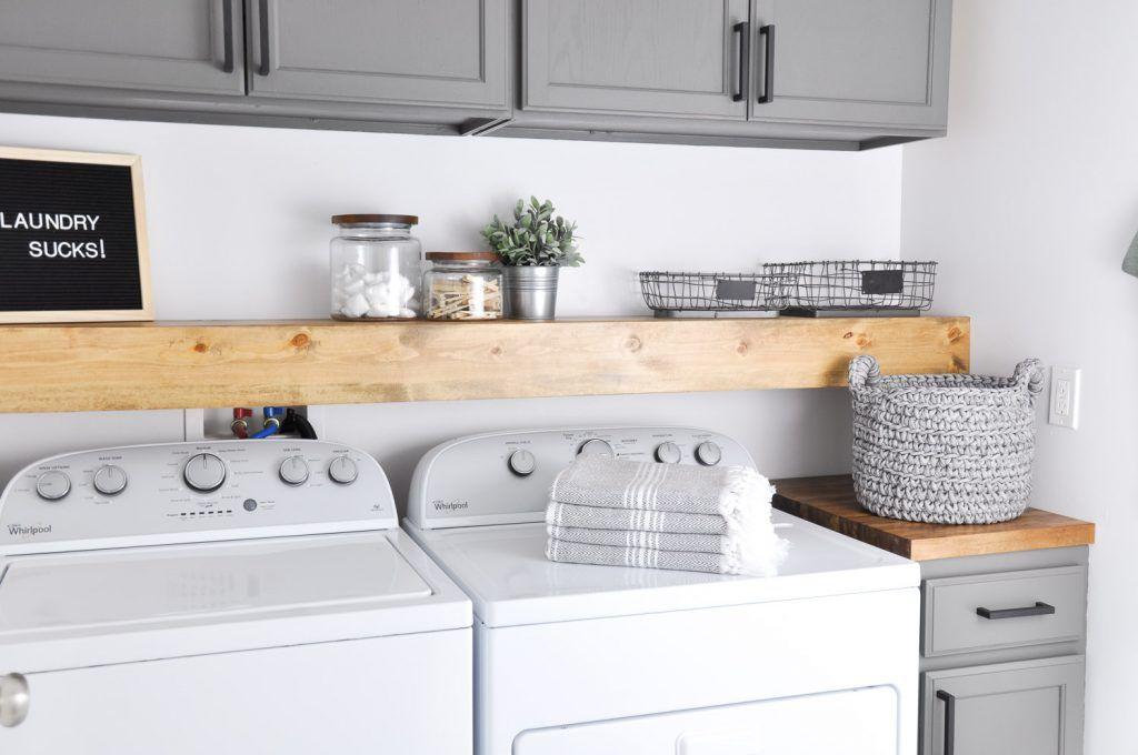 Stylish Ways To Take Full Advantage Of Your Laundry Shelves