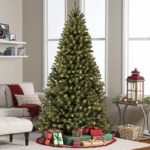 6 Foot Pre-Lit Spruce Hinged Artificial Tree