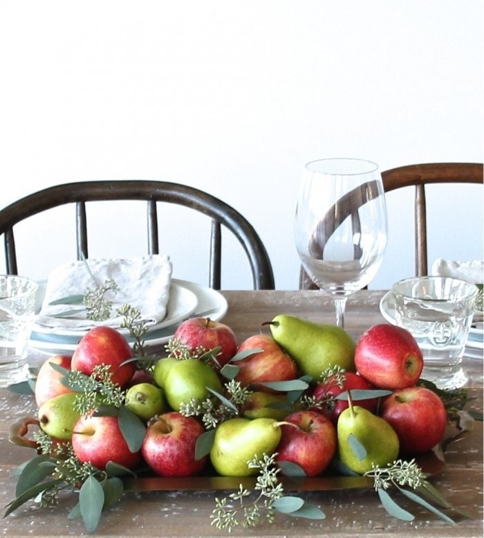 Apple and Pear Fall Centerpiece
