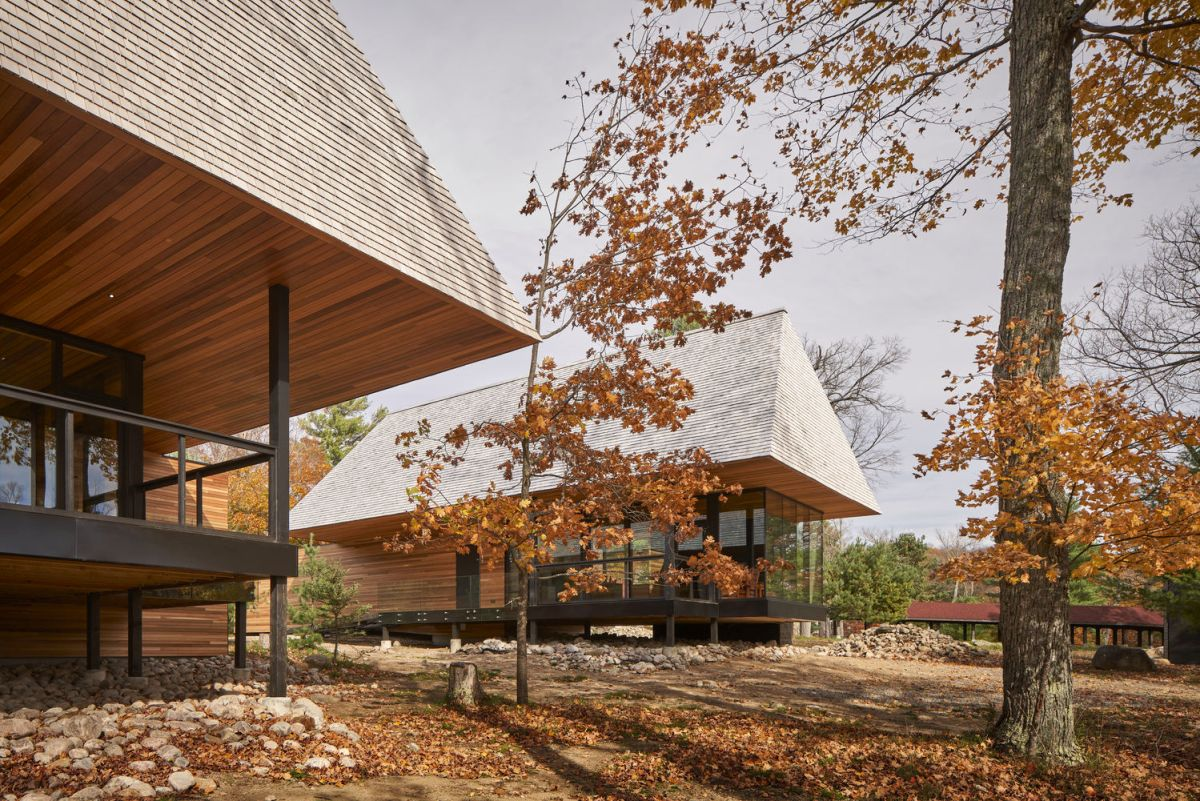 The cabins follow three design templates inspired by the different types of landscape on the island
