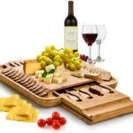 Bambusi Premium Bamboo Cheese Board Set