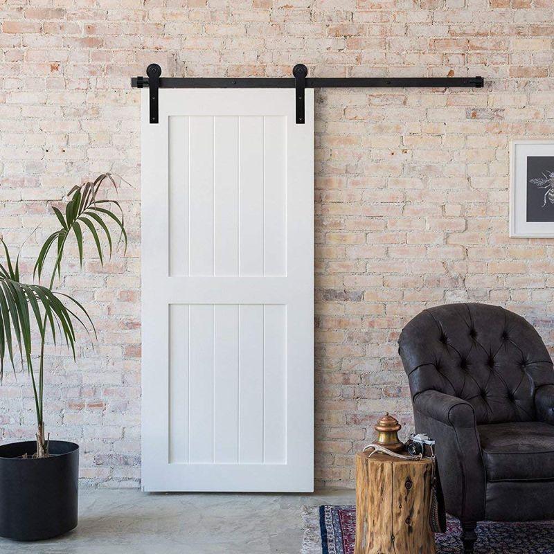 Barn Single Wood Door Hardware Closet Track Kit Set